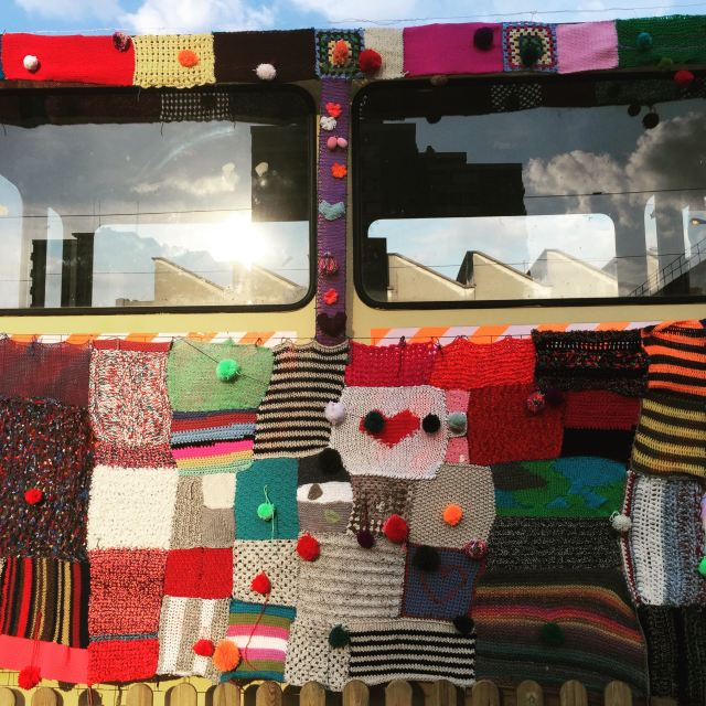 Yarn bombing Ground Zero / Lesprairiesdu5